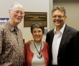 Lowell Smithson, Dr. Phyllis Westover, and Dean Hlebowitsch,